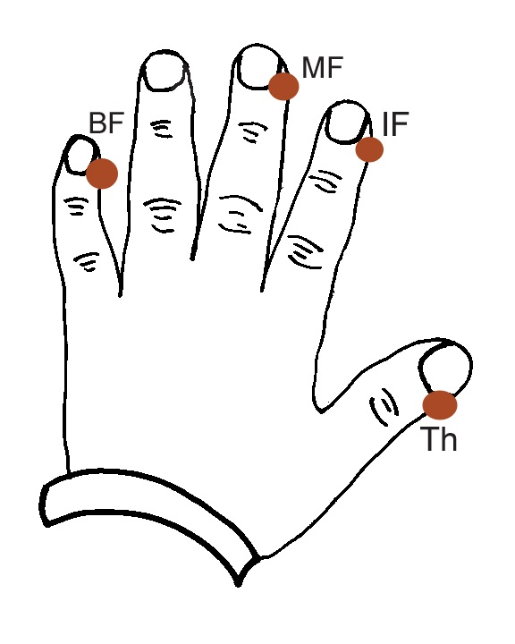 EFT Basic Recipe Finger Points diagram